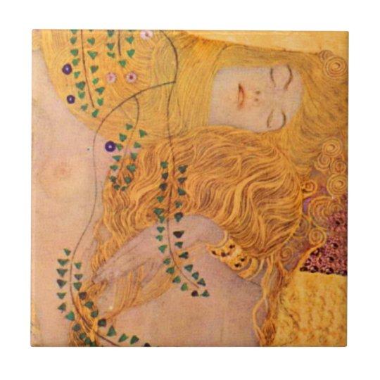 Gustav Klimt Hydra (Mermaids) Vintage Ceramic Tile