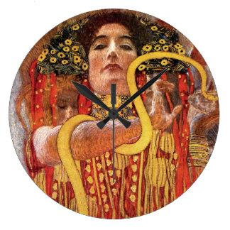 Gustav Klimt - Hygieia Medicine Round Clock