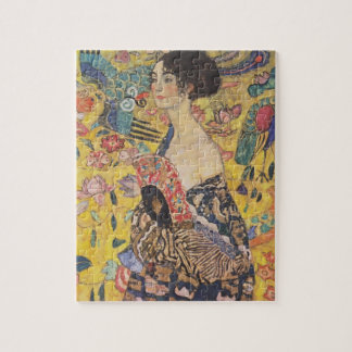 Gustav Klimt- Lady with Fan Jigsaw Puzzle