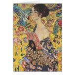 Gustav Klimt Lady With Fan Note Card