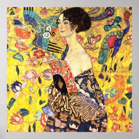 Gustav Klimt - Lady with Fan Poster