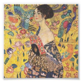 Gustav Klimt Lady With Fan Print Photographic Print