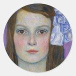 Gustav Klimt Mada Primavesi Round Sticker