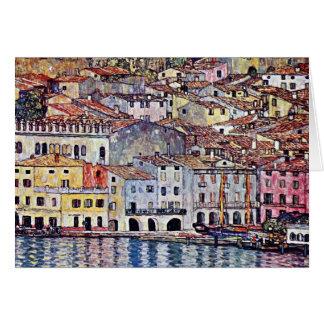 Gustav Klimt - Malcesine at Lake Garda Italy Card