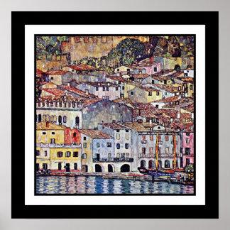 Gustav Klimt - Malcesine at Lake Garda Italy Poster