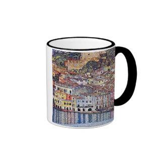 Gustav Klimt - Malcesine at Lake Garda Ringer Coffee Mug