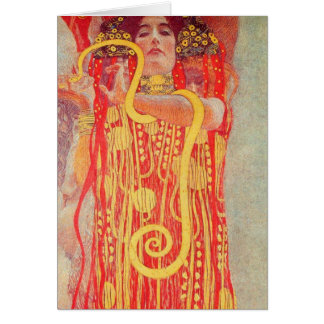 Gustav Klimt - Medizin Greeting Card