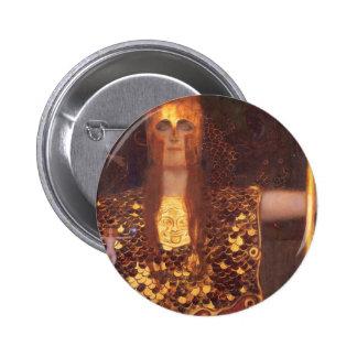 Gustav Klimt Minerva Pallas Athena Button