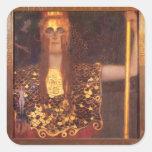 Gustav Klimt Minerva Pallas Athena Stickers