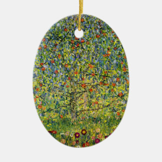 Gustav Klimt painting art nouveau The Apple Tree Christmas Ornament