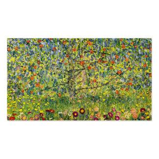 Gustav Klimt painting art nouveau The Apple Tree Pack Of Standard Business Cards