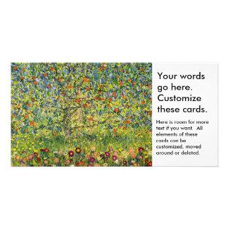 Gustav Klimt painting art nouveau The Apple Tree Customized Photo Card