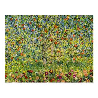 Gustav Klimt painting art nouveau The Apple Tree Postcard