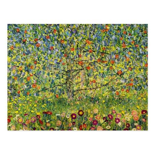 Gustav Klimt painting art nouveau The Apple Tree Postcards