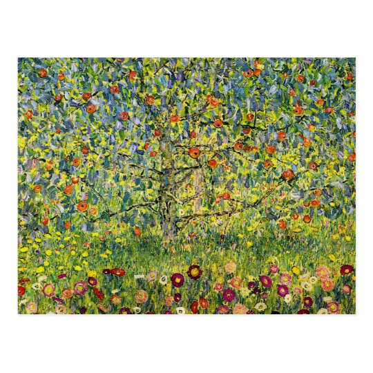 Gustav Klimt painting art nouveau The Apple Tree