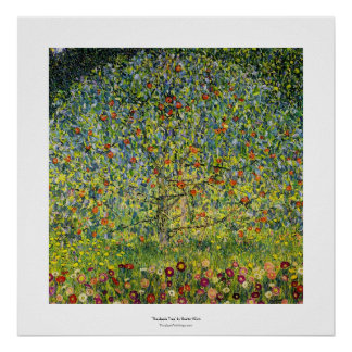 Gustav Klimt painting art nouveau The Apple Tree Poster