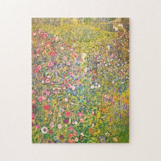 Gustav Klimt Pink Flowers Puzzle