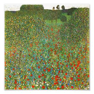 Gustav Klimt Poppy Field Photo Print