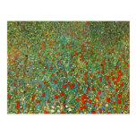 Gustav Klimt Poppy Field Postcard