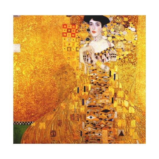 Gustav Klimt Portrait of Adele Bloch-Bauer Canvas Print