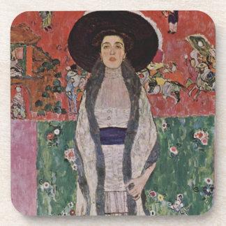 Gustav Klimt Portrait of Adele Bloch-Bauer II Beverage Coasters