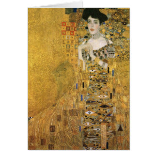 Gustav Klimt - Portrait of Adele Block Bauer Card