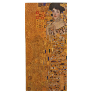 Gustav Klimt Portrait of Adele GalleryHD Wood USB 2.0 Flash Drive