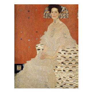 GUSTAV KLIMT - Portrait of Fritza Riedler 1906 Postcard