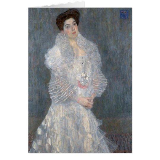 Gustav Klimt Portrait of Hermine Gallia Card