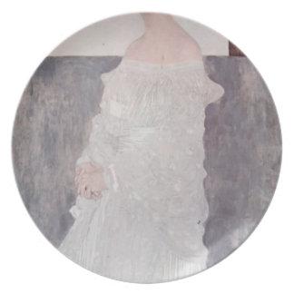 Gustav Klimt- Portrait of Margaret Wittgenstein Party Plates
