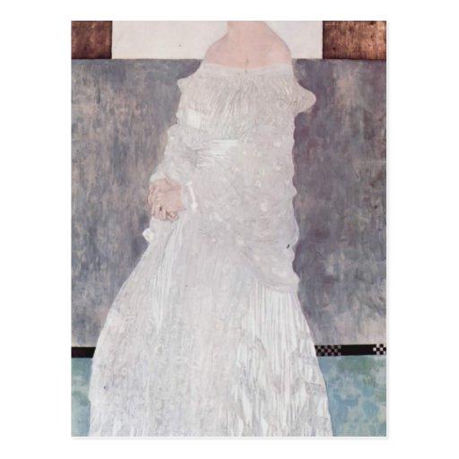 Gustav Klimt- Portrait of Margaret Wittgenstein Post Card
