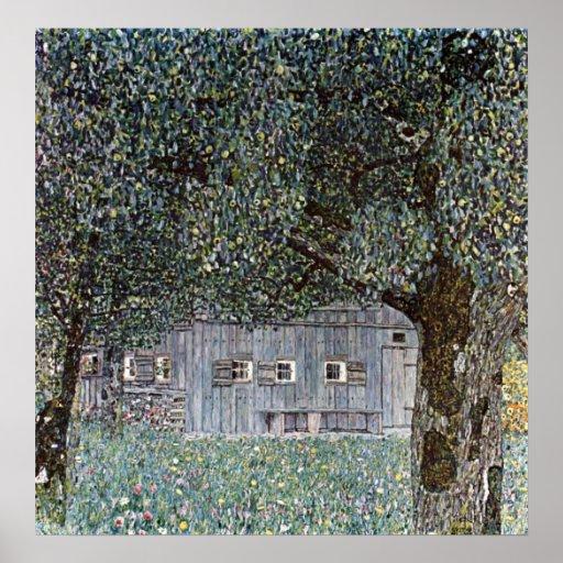 Gustav Klimt Poster ~ Farm Houses