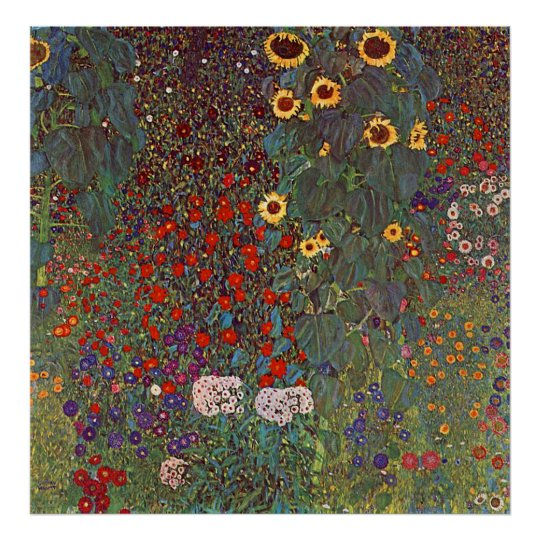 Gustav Klimt Poster ~ The Flower Garden