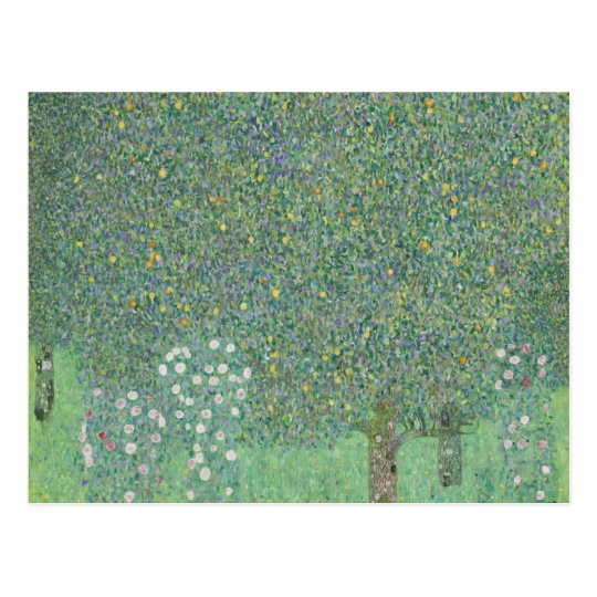 Gustav Klimt - Rosebushes under the Trees Postcard