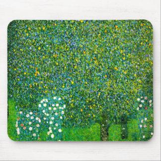 Gustav Klimt Roses Under The Pear Tree Mousepads