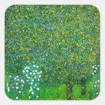 Gustav Klimt Roses Under The Pear Tree Stickers