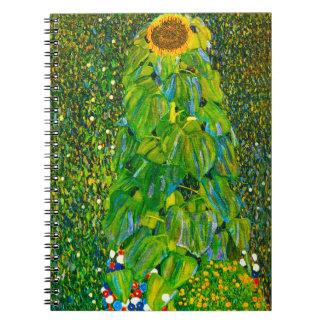 Gustav Klimt Sunflower Notebook