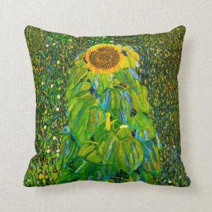 Gustav Klimt Sunflower Pillow