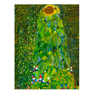 Gustav Klimt Sunflower Postcard