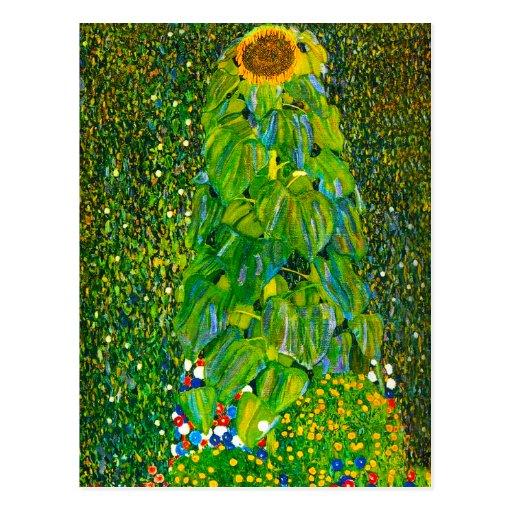 Gustav Klimt Sunflower Postcard