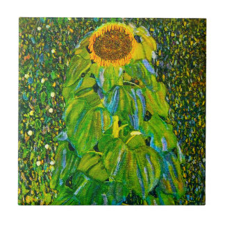 Gustav Klimt Sunflower Tile