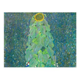 Gustav Klimt, Sunflower Vintage Floral Art Nouveau Postcards