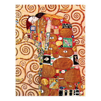 Gustav Klimt - The Embrace - Fine Art Painting Postcard