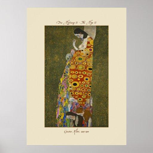 Gustav Klimt The Hope II 1907-1908 Poster Print