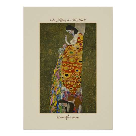 Gustav Klimt The Hope II 1907-1908 Poster Print