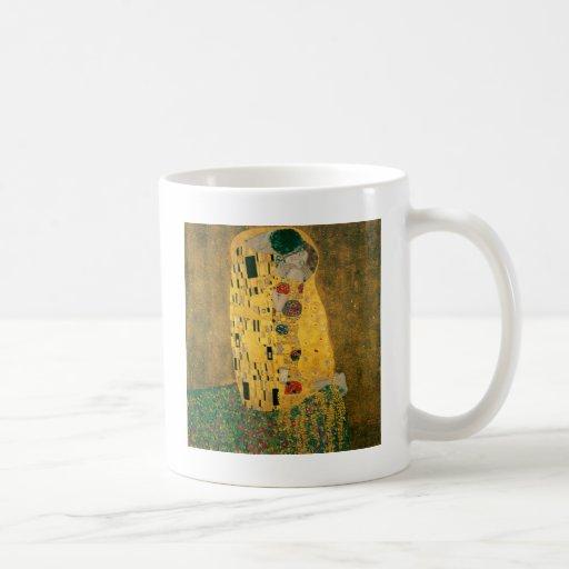 Gustav Klimt The Kiss Art Nouveau Jugendstil Gold Coffee Mug