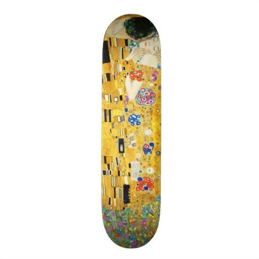 Gustav Klimt The Kiss Art Nouveau Skate Deck
