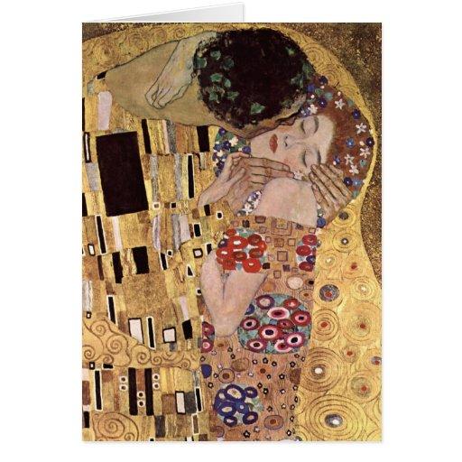 Gustav Klimt ~ the Kiss Card