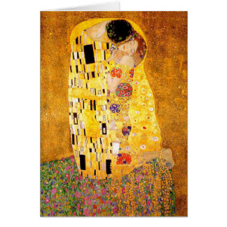 "Gustav Klimt ""The Kiss"" Card"
