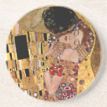 Gustav Klimt: The Kiss (Detail) Beverage Coaster